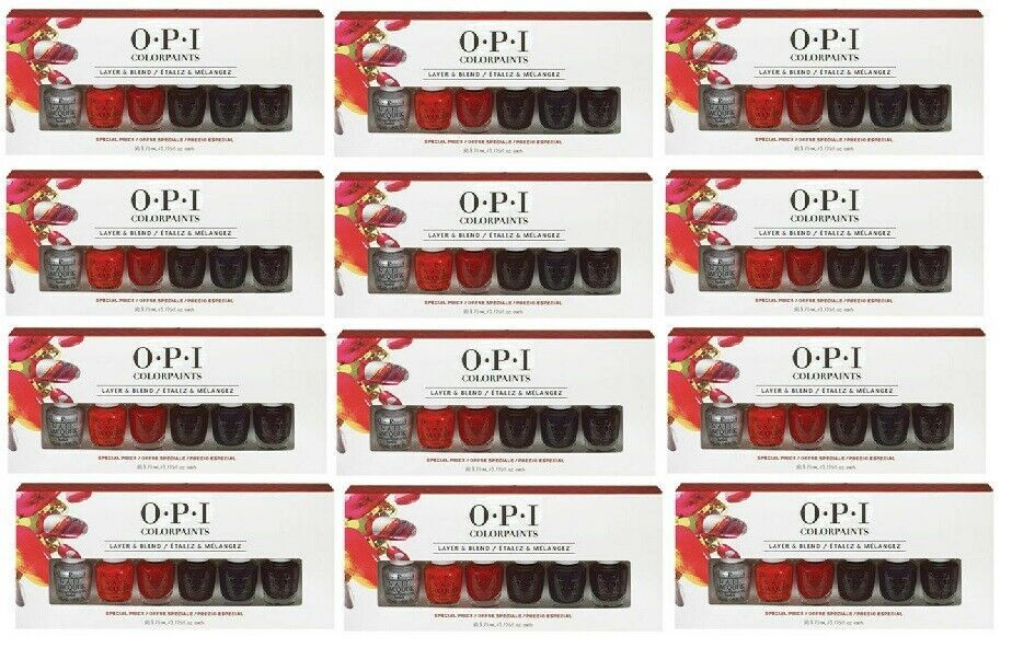 Primary image for Wholelsale Lot 72 polish - Opi Color Paints 6 piece Set Kit New in Case 12 Pack