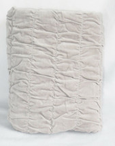 Pottery Barn Ruched Velvet Euro Sham Smoke Gray New - $37.83