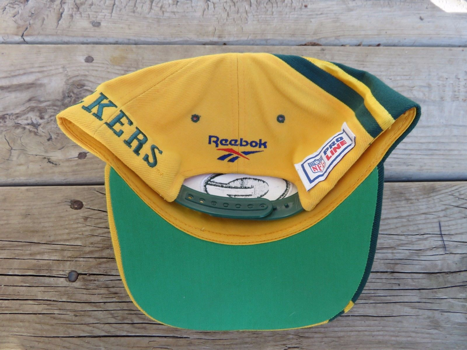 03402cb06cf NFL Green Bay Packers Reebok Snapback Green Yellow Hat NFL Pro Line
