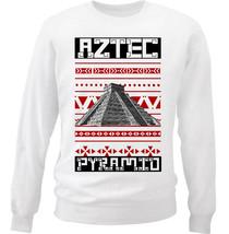 Aztec Pyramid - New White Cotton Sweatshirt - $33.99