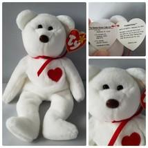 Ty Beanie Baby Valentino P.V.C Pellets Bear Tag Error 5th Generation Mint - $594.60