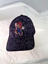 Super Mario Black Hat Cap Adult Nintendo One Size - $15.69