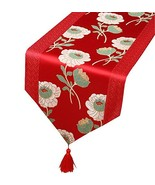 George Jimmy Chinese Classical Table Runner Traditional Satin Table-Clot... - $28.03