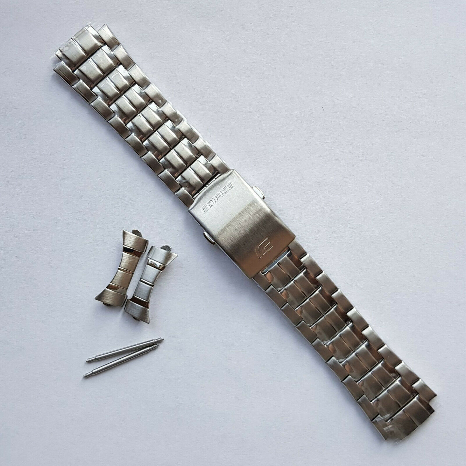 Primary image for Genuine Replacement Watch Band 24mm Stainless Steel Bracelet Casio EF-328D-1A