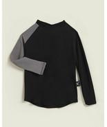 NWT nununu Long Sleeve Rash Guard Swim Shirt Black / Gray sz 12-18 Months  - $23.52