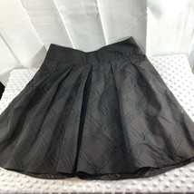 Express Design Womens Sz 6 Skirt Above Knee Textured Pleated Lined  - $11.30