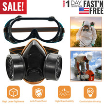 NEW Respirator Gas Mask Safety Chemical Anti-Dust Filter Military Eye Go... - $8.77