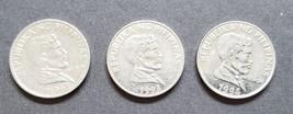 3 Philippine 1 Piso Coins Jose Rizal / Anoa Mindorensis (Tamaraw) 1992 1... - $3.95