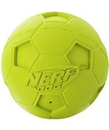 Nerf Dog Soccer Squeak Ball Dog Toy, Medium, Green - £12.03 GBP