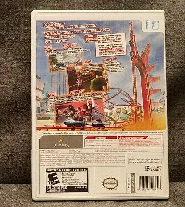 Thrillville: Off the Rails (Nintendo Wii, 2007) Video Game