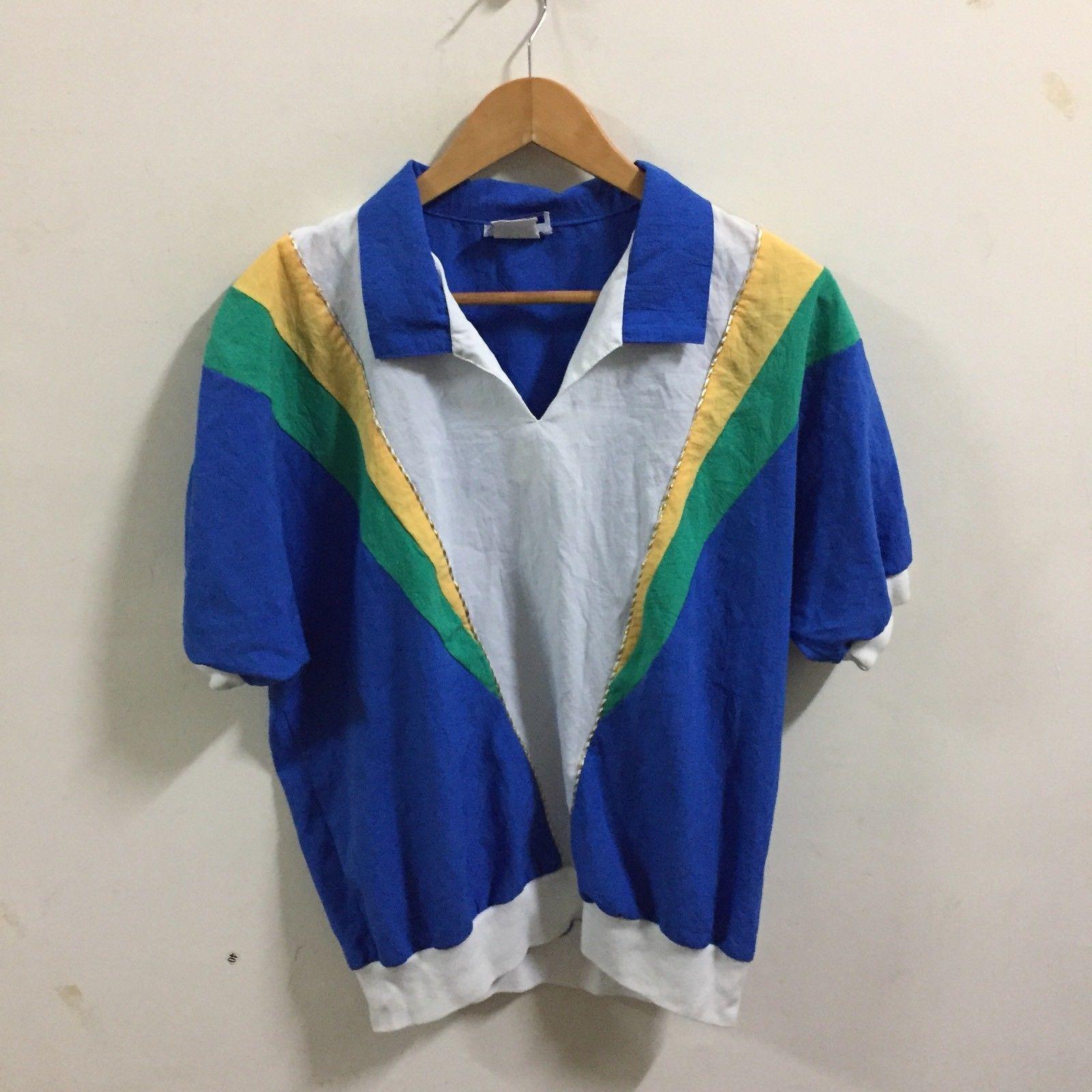 VTG 90's Gape God Tops T-Shirt SZ L ColorBlock  Rare Made In USA