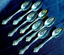 """Orleans 1847 Rogers Bros IS. Silverplate Set of 8 Demitasse Spoons  4 1/2"""" - $59.84"""