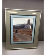 1987 Framed Photo of Barn and Horse and Buggy Lancaster County, PA Signed - $31.18