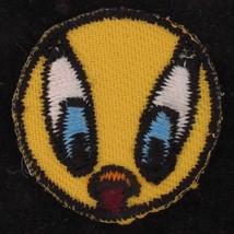 PATCH ROUND Tweety Bird WARNER BROS LOONEY TUNES Embroidered FABRIC WB 4726 - $15.83