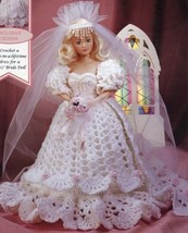 Blushing Bride Fibre Craft Doll Clothes Crochet Pattern Booklet FCM485 RARE - $9.85