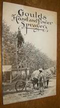 1916 VINTAGE GOULDS HAND POWER SPRAYERS CATALOG SENECA FALLS NY - $9.89