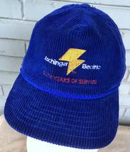 Aschinger Electric Fenton Missouri VTG Corduroy Snapack Baseball Cap Hat USA - $17.80