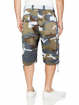 Men's Tactical Military Army Camo Camouflage Slim Fit Cargo Shorts With Belt image 12