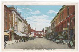 Pleasant Street Cars Claremont New Hampshire postcard - $5.94