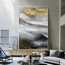 Contemporary Abstract Cloud Mountain Oil Painting Art - $115.69+