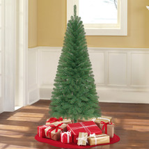 Holiday Time 6' unlit Wesley Pine Artificial Christmas Tree green quick ... - $42.56