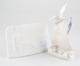 Lladro Collector's Society Scroll w/ Dove and Quixote Plaque Great Condition! - $99.00
