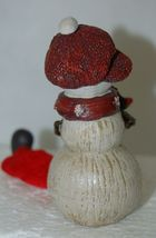 Delton Products 5007 4 Fine Collectibles Snowman Shelf Sitter 2 Set Red Scarf image 3