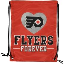 Philadelphia Flyers ❤ Forever NHL Hockey Nylon Drawstring Backpack Gym Bag - $13.29