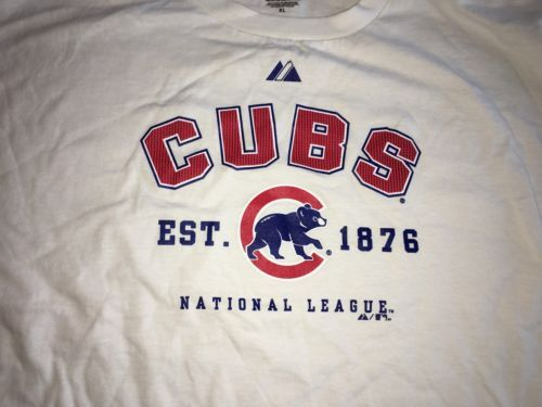 Primary image for Chicago Cubs Majestic XL NWOT deadstock