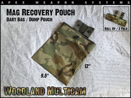 Custom NERF Gear - Mag Recovery Pouch / Dump Pouch / Dart Pouch - Woodla... - $7.99