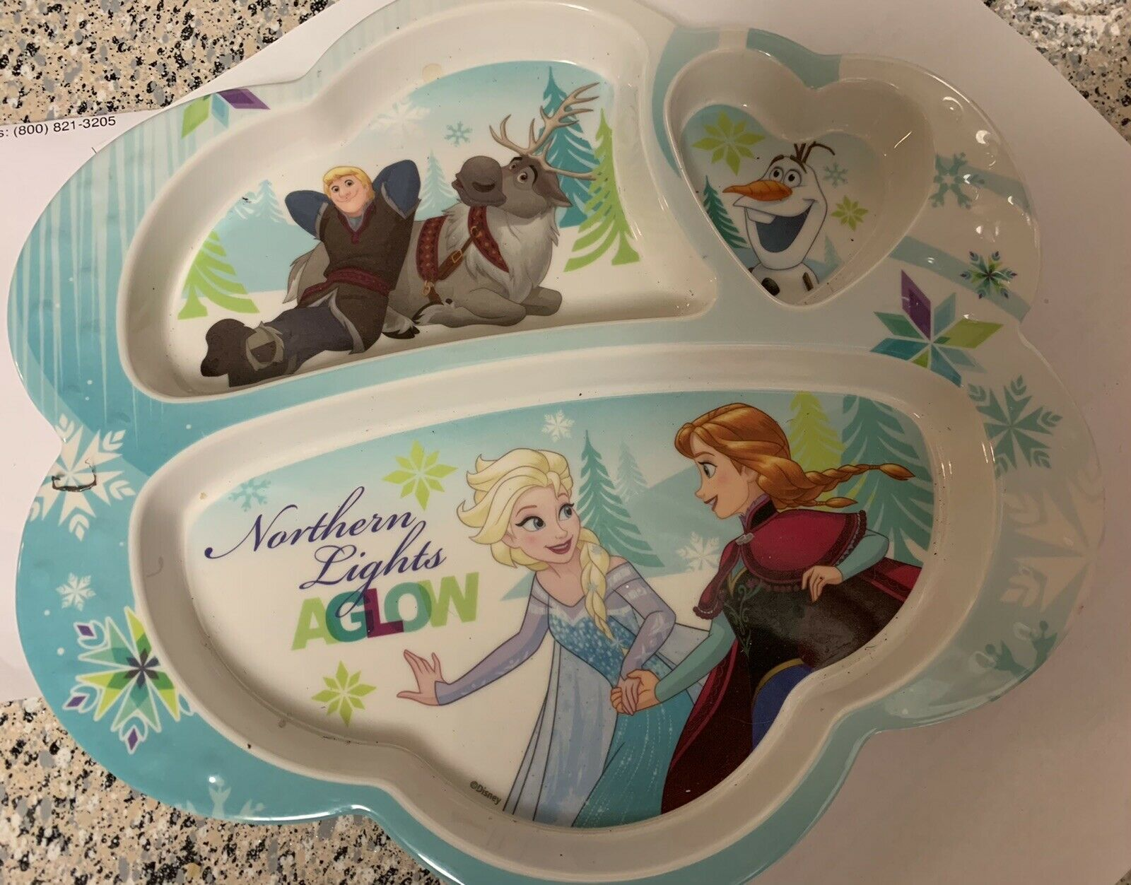 Frozen Northern Lights Aglow 3+ Toddler Plate - $10.40