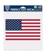 US Flag Decal 8x8 in. Vinyl WinCraft Perfect Cut Full Color Made in USA - $7.97