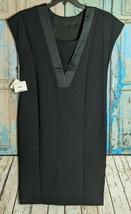 Anne Klein Womens Size 10 Style 10577958-169 Cap Sleeve Shift Dress Blac... - $20.79