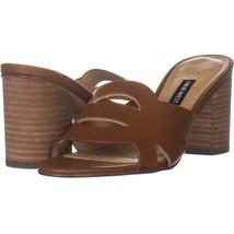 Nine West Nevaeh Heeled Mule Sandals 166, Medium Natural Leather, 7.5 US - $32.25