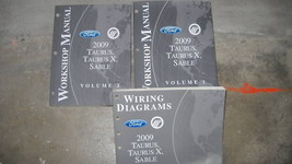 2009 Ford Taurus Taurus X Mercury Sable Service Shop Repair Manual Set F... - $44.49