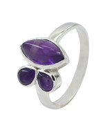 Lovely Gemstones Fancy Shape cabochon Amethyst ring - 925 Sterling Silve... - $11.00