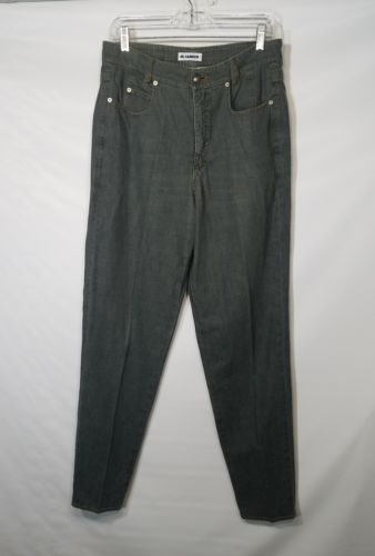 JIL SANDER BLUE FADED JEANS ROUGH LOOK ITALY 42 100% COTTON  US SIZE OF 31 X 32