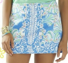 Lilly Pulitzer Tate Bay Blue Coasting Engineered Mini Skirt 4 - $76.50