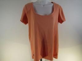 Ralph Lauren Haut Manches Courtes Sz XXL Orange Polo Logo C5 - $20.68
