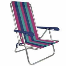 Mor 4-Position Aluminum Beach Chair - (Pack Of 1) - (Pink, Blue  Green S... - €46,95 EUR