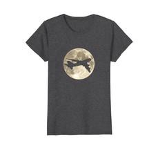 B747 Airline Pilot Full Moon Aviation T-Shirt - $19.99