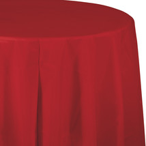 82 inch Plastic OctyRound Tablecover Classic Red/Case of 12 - $52.12
