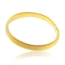 Men's Elastic Stretch Bracelets Armband Cuffs Stainless Steel Bangle Health Ener - $10.23