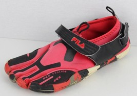 Fila skill toes women's black red barefoot shoes size 5 - €11,72 EUR