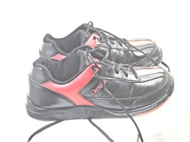 MENS ATHLETIC SHOE SIZE 7 DEXTER BRAND RICKY 3 STYLE BLACK AND RED    SS12 - $13.48