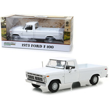 1973 Ford F-100 Pickup Truck White 1/18 Diecast Model Car by Greenlight ... - $81.31