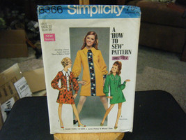 Simplicity 8366 Misses Dress in 2 Lengths Pattern - Size 12 Bust 34 - $8.91
