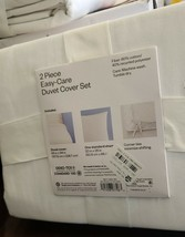 Room Essentials XL Twin Easy Care White Duvet Cover And Sham Set - NEW - $29.69