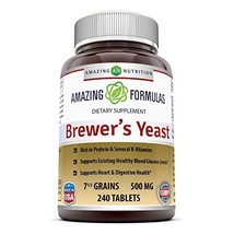 Amazing Nutrition Brewers Yeast Tablets - 7.5 Grain Capsule 500mg 240 Ta... - $11.74
