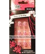 FAB BEAUTY* 12 Stick-On/Press-On Nails STYLIN' Pink Animal Print+GLITTER... - $5.99